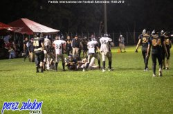Partido internacional de Football Americano Polideportivo de Prez Zeledn