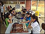 Parte del grupo de ajedricistas que se está preparando para Juegos Nacionales este 2012