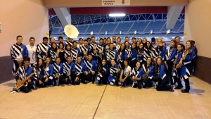 Sarchí Marching Band, integrada por estudiantes del colegio Francisco J. Orlich.